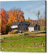The Old Farm In Autumn Acrylic Print