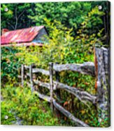 The Old Fence Acrylic Print