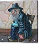 The Old Man Near The Western Wall Acrylic Print