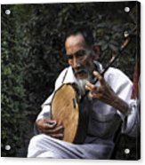 The Old Man Plays Zither Acrylic Print