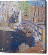 The Old North Bridge In Concord Ma Acrylic Print by William Demboski