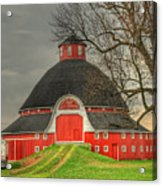 The Old Round Barn Of Ohio Acrylic Print