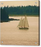 The Old Schooner Acrylic Print
