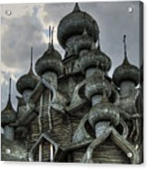 The Old Wooden Church Acrylic Print