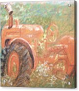The Ol'e Allis Chalmers Acrylic Print by Ron Bowles