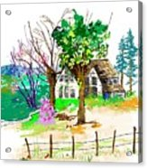 The Ole House In Spring Acrylic Print