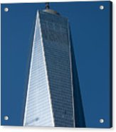 The One World Trade Centre Or Freedom Tower New York City Usa Acrylic Print