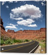 The Open Road - Utah Acrylic Print