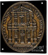 The Opening For Worship Of The Chiesa Del Gesu, Rome [reverse] Acrylic Print