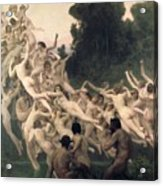 The Oreads Acrylic Print by William-Adolphe Bouguereau