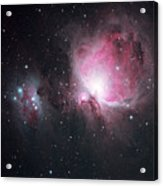 The Orion And The Running Man Nebulae Acrylic Print by Pat Gaines