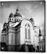 The Orthodox Cathedral And The Saint John The Baptist Church Acrylic Print
