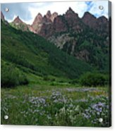 The Other Side Of Maroon Bells 1 Acrylic Print