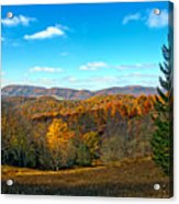 The Other Side Of The Road In Wv Acrylic Print