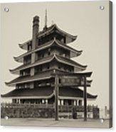 The Pagoda - Reading Pa. Acrylic Print