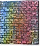 The Painted Brick Wall  Acrylic Print