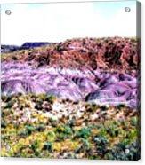 The Painted Desert  In Arizona Acrylic Print