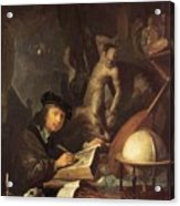 The Painter In His Workshop 1647 Acrylic Print