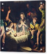 The Painting Of Nativity By Pier Maria Bagnadore Acrylic Print