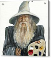 The Painting Wizard Acrylic Print