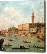 The Palace And The Molo From The Basin Of San Marco Acrylic Print