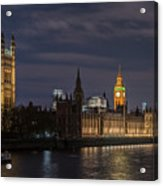 The Palace Of Westminster By Night Acrylic Print