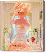 The Palazzo Casino Venetian Rose Dress Acrylic Print