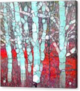 The Pale Trees Of Winter Acrylic Print