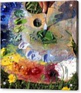 The Pallet Acrylic Print by Erik Falkensteen