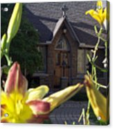 The Parish House With Lilys Acrylic Print