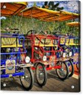 The Park Bikes Acrylic Print