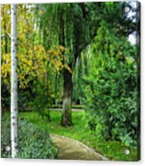 The Park Federico Garcia Lorca Is Situated In The City Of Granada, In Spain. Acrylic Print