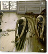 The Parquet Planers - Gustave Caillebotte Acrylic Print