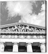 The Parthenon In Nashville Tennessee Black And White 2 Acrylic Print