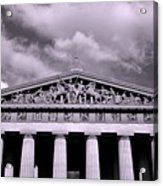 The Parthenon In Nashville Tennessee Black And White Acrylic Print
