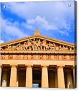 The Parthenon In Nashville Tennessee  Acrylic Print
