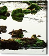 The Passetto Rocks And Water, Ancona, Italy Acrylic Print