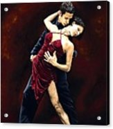 The Passion Of Tango Acrylic Print