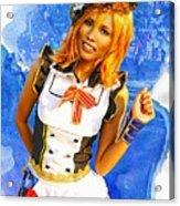 The Patriotic Fashion Girl Acrylic Print