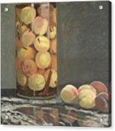 The Peach Glass Acrylic Print