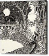 The Peacock's Complaint Acrylic Print