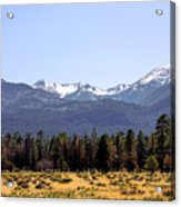 The Peaks - Where Earth Meets Heaven Acrylic Print by Christine Till