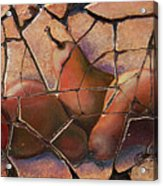 The Pears Fresco With A Crackle Finish Acrylic Print