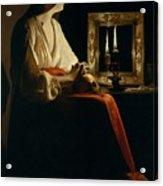 The Penitent Magdalen, Georges De La Tour Acrylic Print