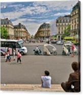 The Perfect View- Avenue De L'opera Paris  Acrylic Print