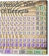 The Periodic Table Of Elements 1 Acrylic Print