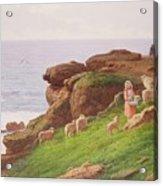 The Pet Lamb Acrylic Print by J Hardwicke Lewis