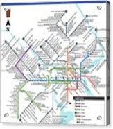 The Philadelphia Pubway Map Acrylic Print