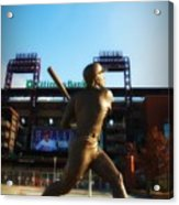 The Phillies - Mike Schmidt Acrylic Print by Bill Cannon