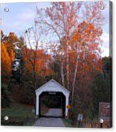 The Phillips Covered Bridge Acrylic Print